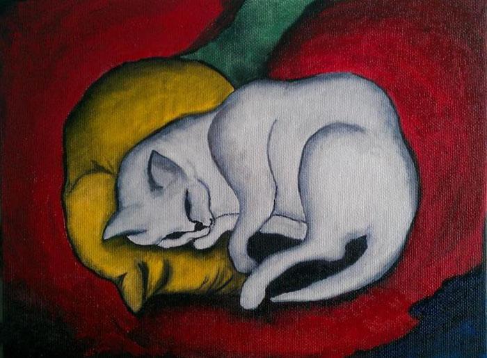 Black Cat And Dog In Dream